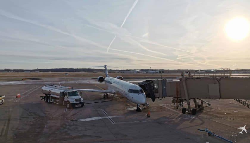United CRJ550 MSN ORD Gate Aussicht 1