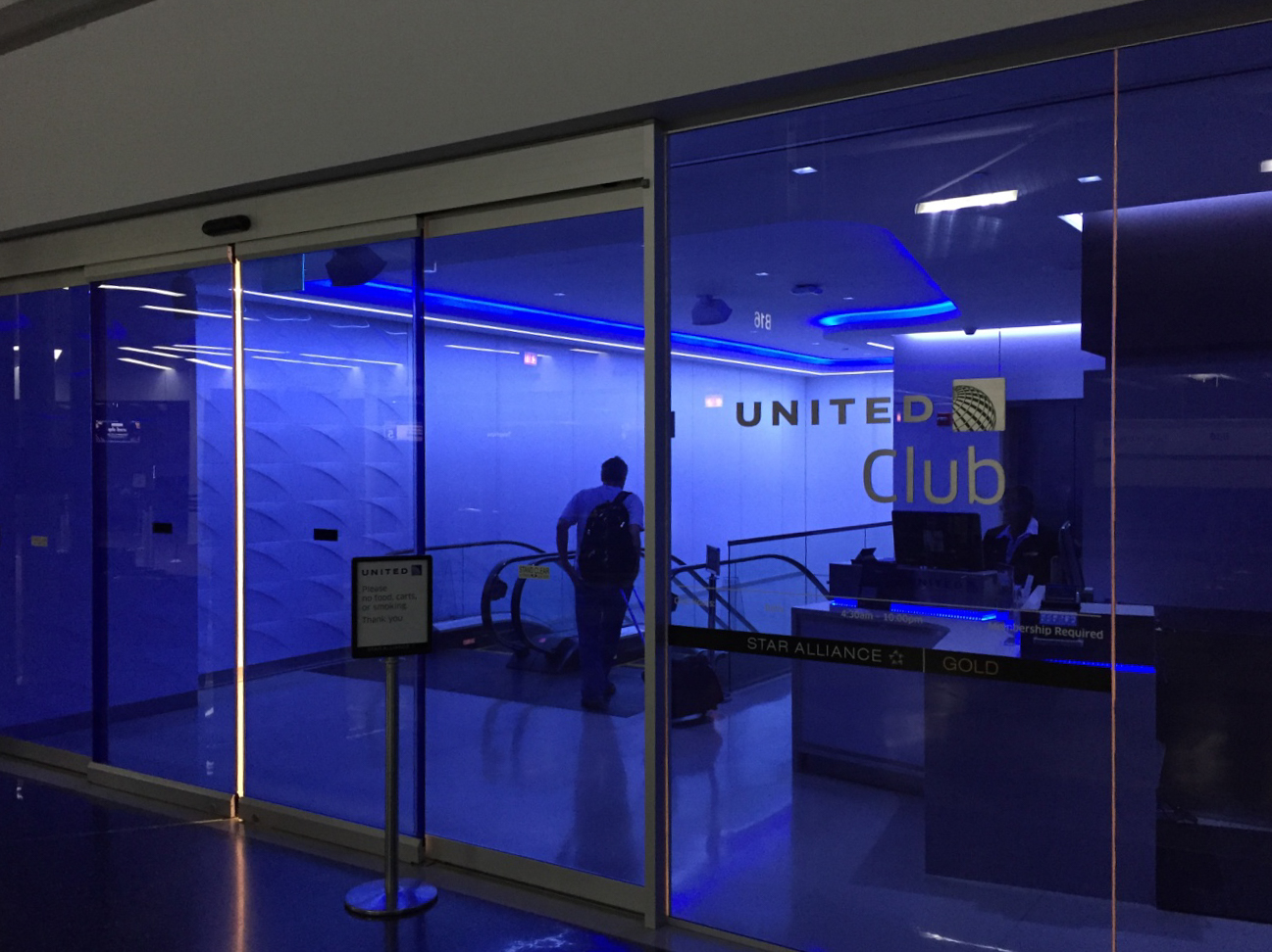 United Club Chicago Eingang