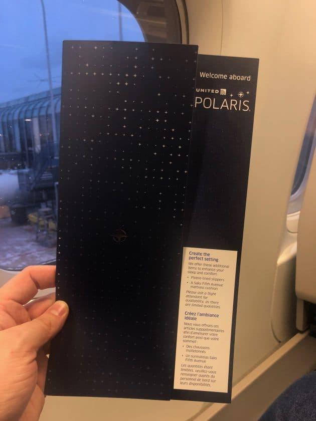 United Polaris Bewertung Speisekarte Cover