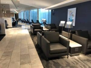 United Polaris Lounge IAH Loungebereich