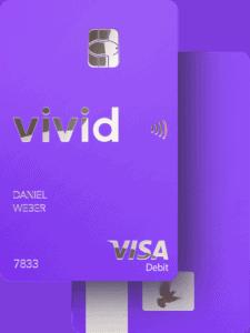Vivid Visa Kreditkarte beidseitig