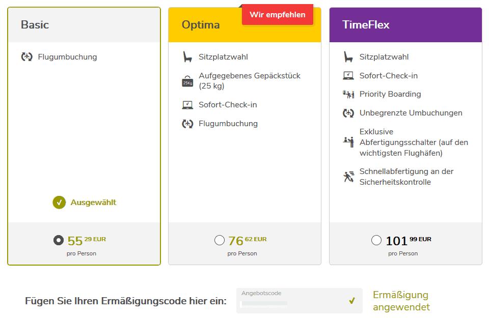 Vueling Gutschein Einloesen II