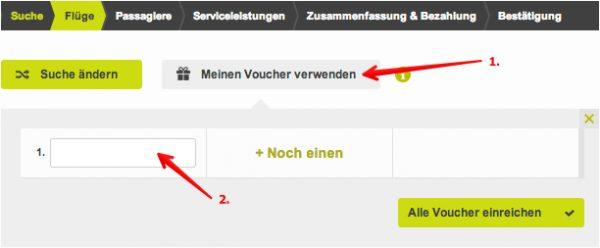 Gutschein bei airBaltic einlösen
