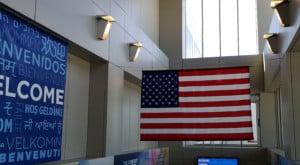 Welcome USA Flagge
