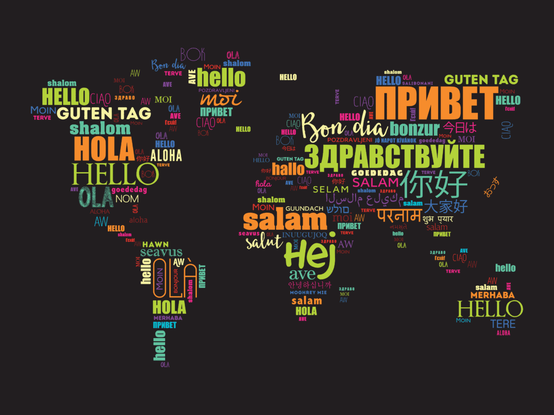 World Map Languages