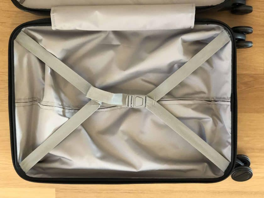 Xiaomi Business Cabin Boarding Suitcase Innenleben Spanngurt