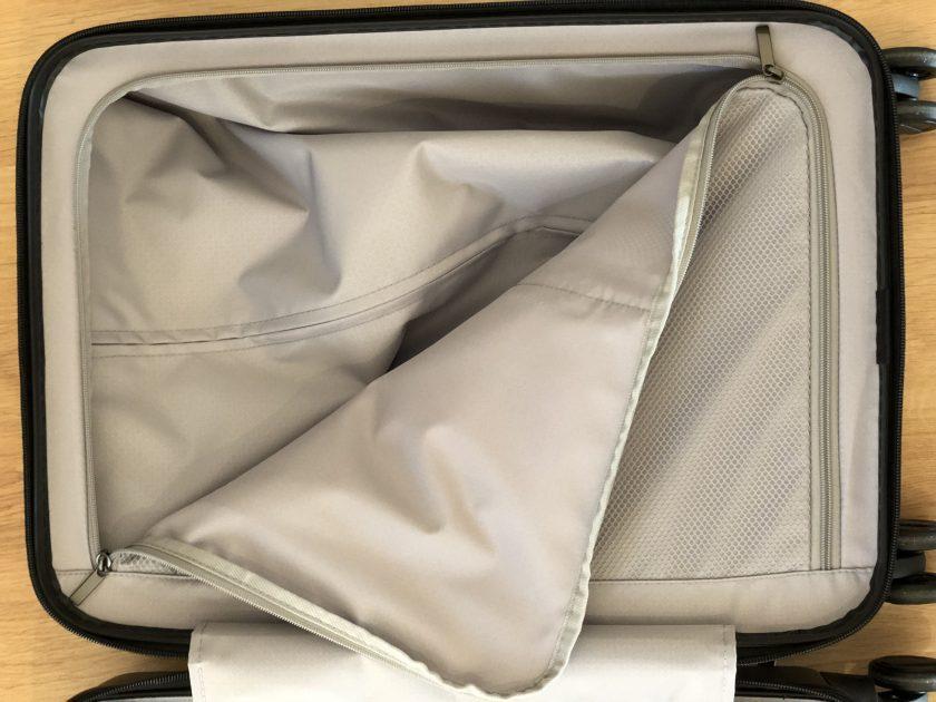 Xiaomi Business Cabin Boarding Suitcase Innenleben Trennwand offen