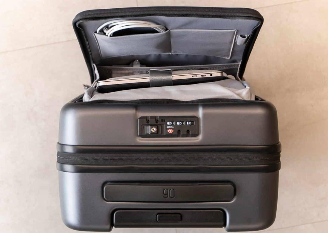 Xiaomi Business Cabin Boarding Suitcase oben Außentasche offen