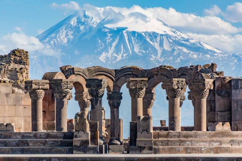 Zvartnos Tempel Jerewan Armenien