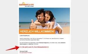 Sonnenklar.tv Email Gutschein