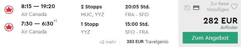 ac fra sfo 282€
