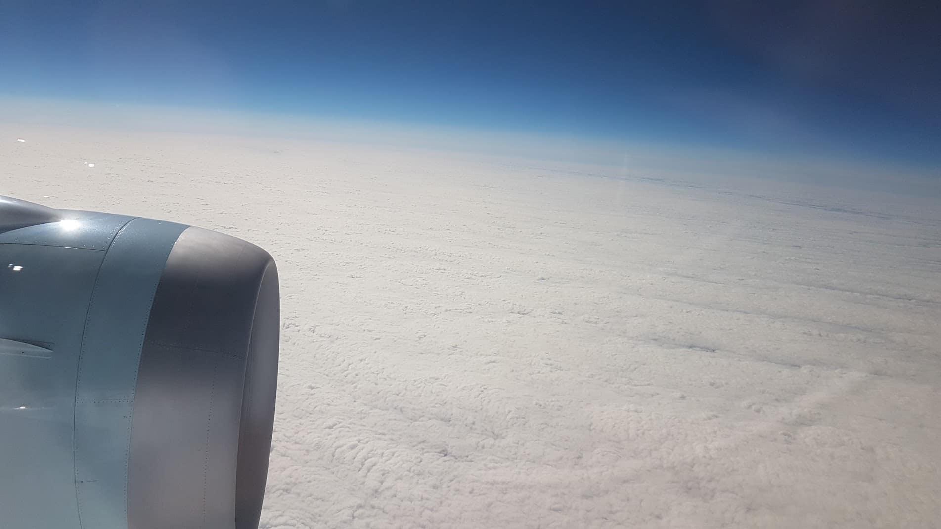 air canada aussicht wolken