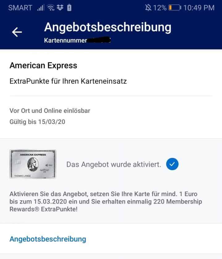amex angebot app