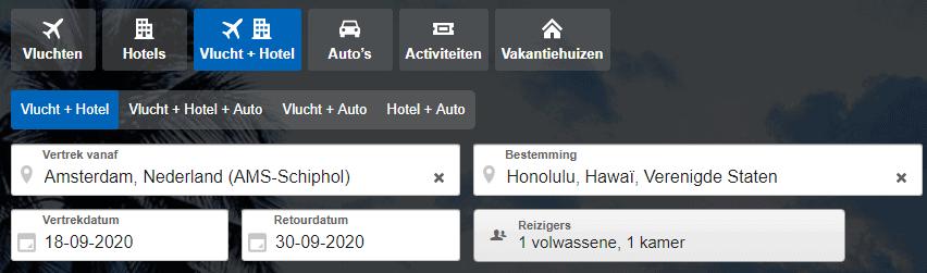 AMS HNL Expedia