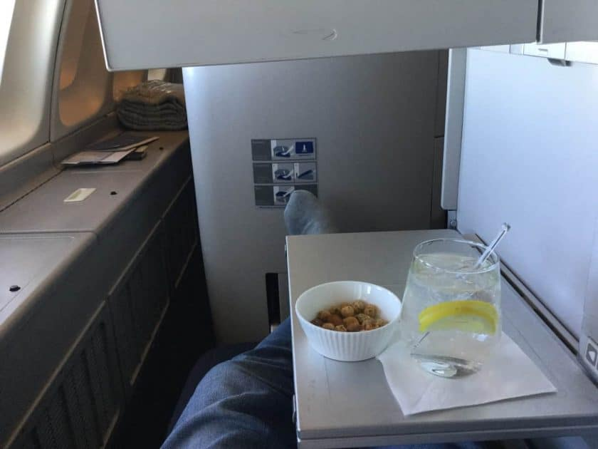 ba clubworld 747 predeparture drink