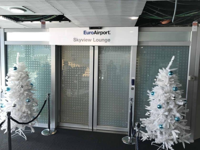 Bewertung Basel EuroAirport Skyview Lounge Eingang