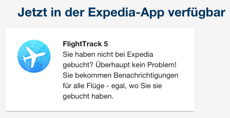 Expedia FlightTrack 5