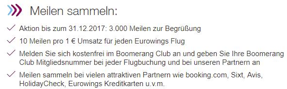 boomerang club gratismeilen