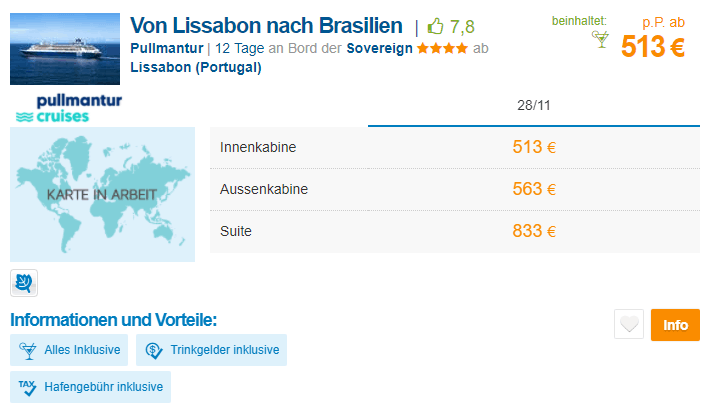 brasilien pullmantur angebot