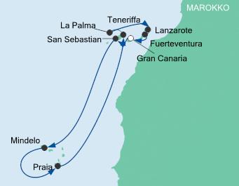 AIDA Kreuzfahrt zu den Kapverden