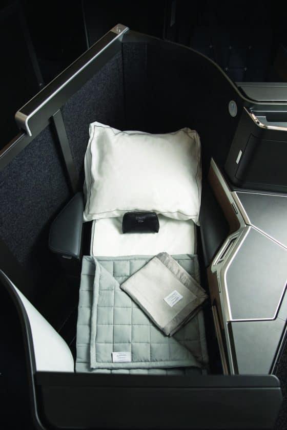 ba club suite lie flat bed