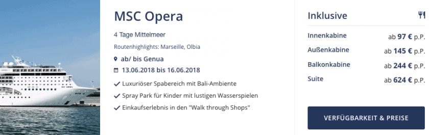 MSC Opera Mittelmeer