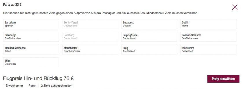Germanwings Blind Booking Ziele Ausschließen