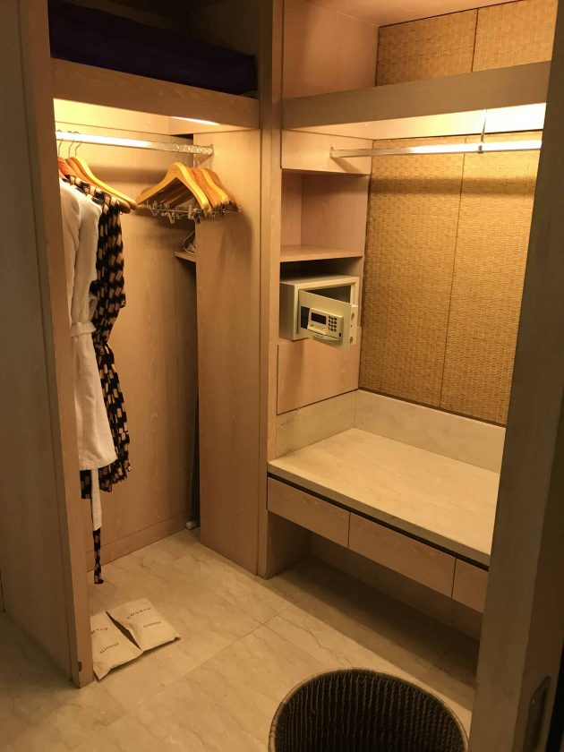 Conrad Bali Review Suite Walk in cupboard