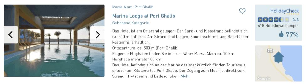 ltur port ghalib last minute