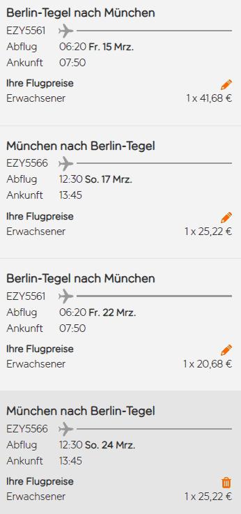 easyjet berlin münchen roundtrip zweimaö