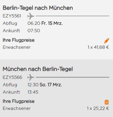 easyjet berlin münchen roundtrip