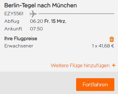easyjet berlin münchen