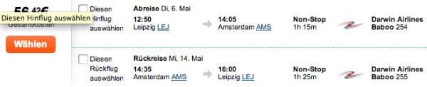 Leipzig/Halle - Amsterdam für 56€