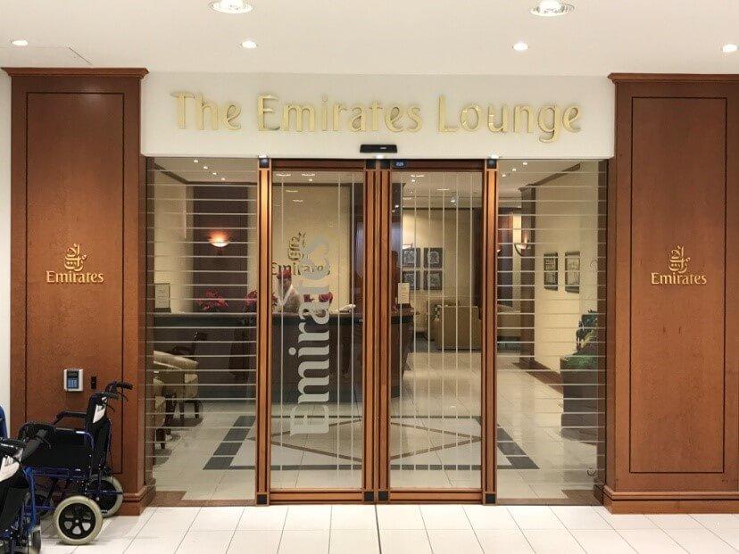 Emirates Lounge Auckland Eingang