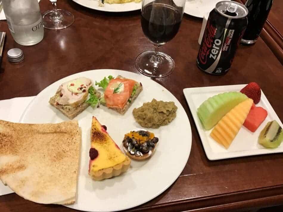 Emirates Lounge Auckland Essen