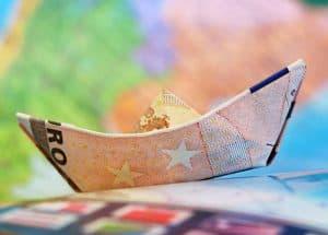 Euro Geldschein Schiff
