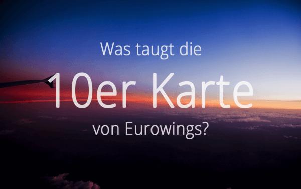 Eurowings Flightpass