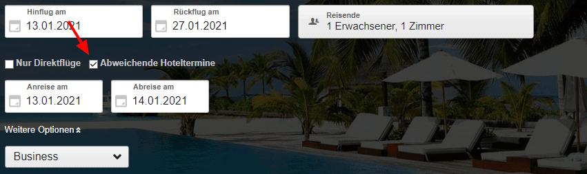 FRA MIA Expedia Flug Hotel 2