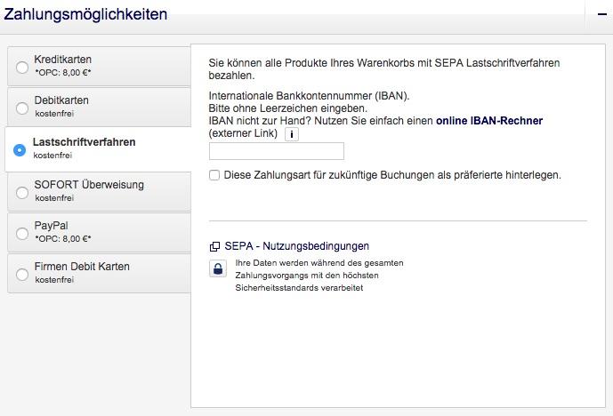 Lufthansa Zahlungsmöglichkeiten