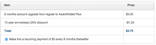 AwardWallet Plus 25%