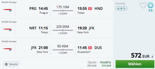 Momondo Prag - Tokio - New York - Düsseldorf
