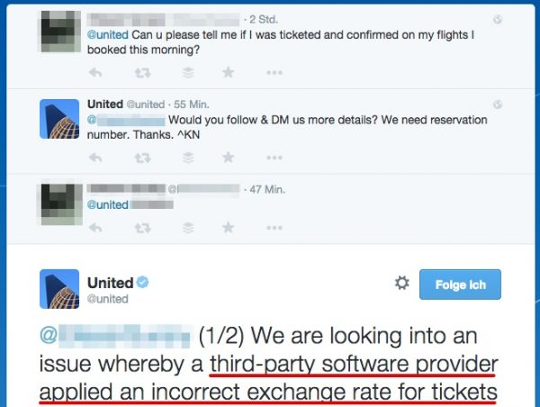 United Airlines Twitter Statement