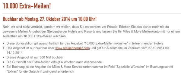Steigenberger 10.000 Extra-Meilen