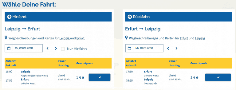 Deinbus Leipzig - Erfurt