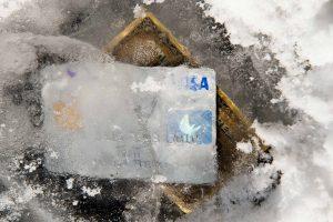 Kreditkarte eingefroren
