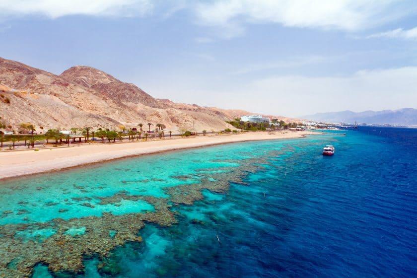 Kueste Eilat Israel Rotes Meer