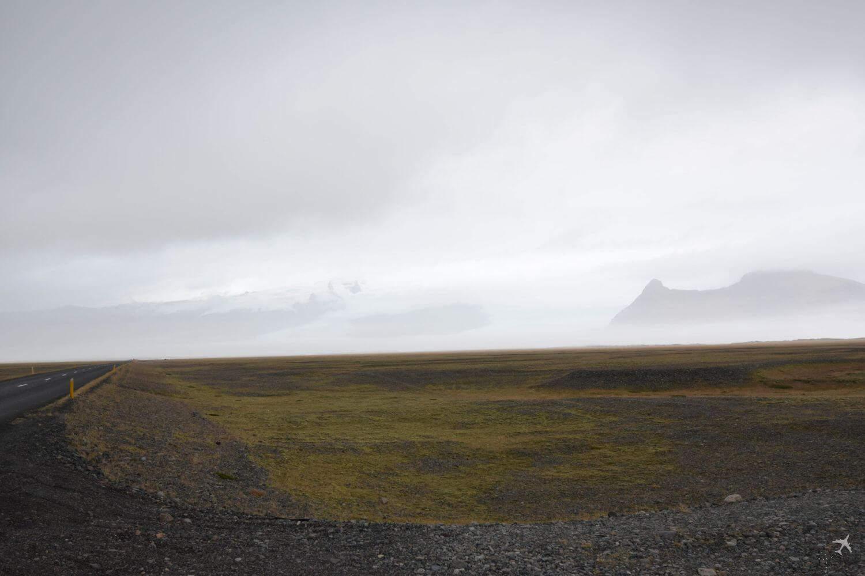 landschaft gletscher wolkig