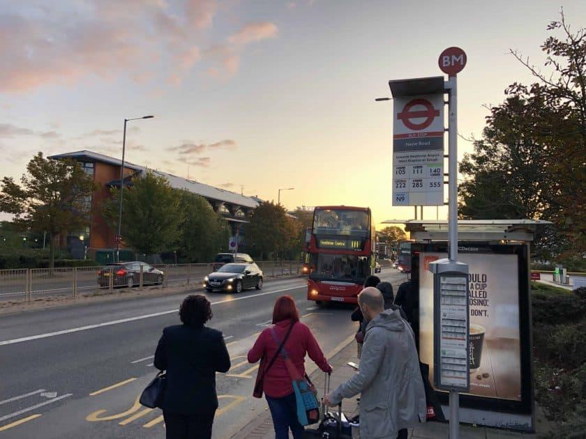 London Bus Haltstelle