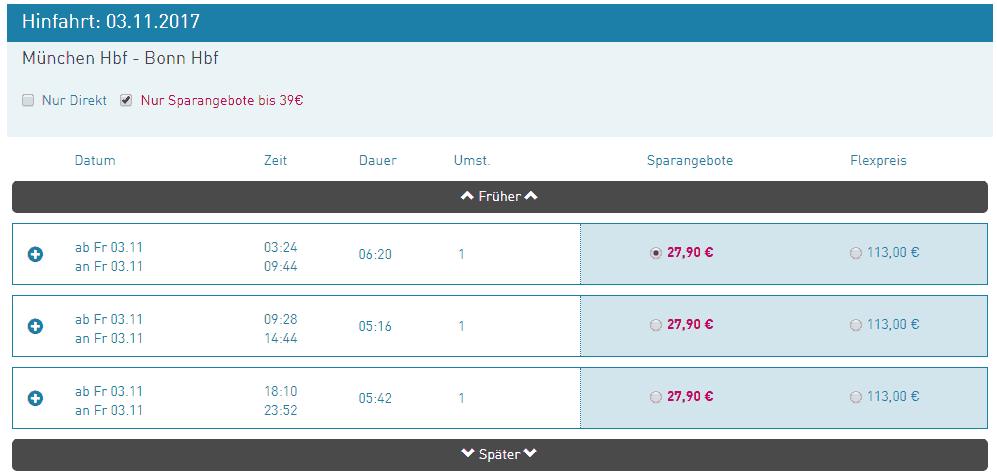 ltur Bahn-Angebot