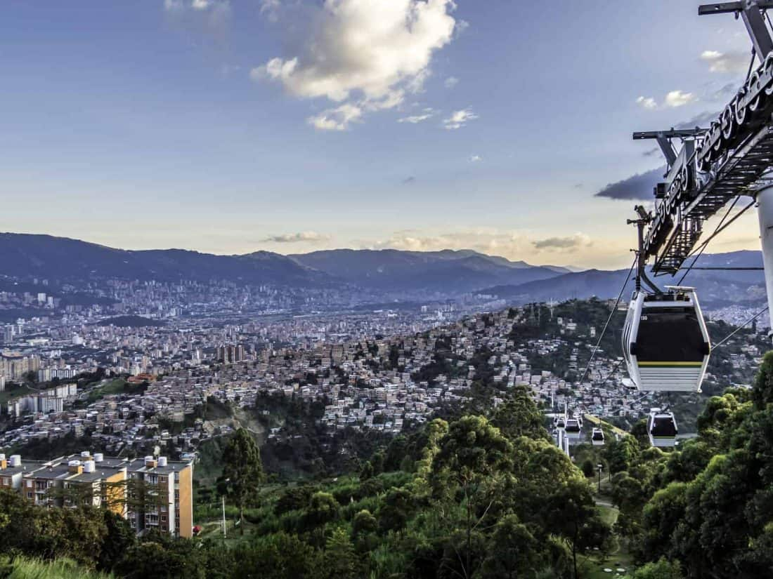 Skyline of Medellin from the Metro Cable station
